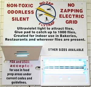 No Zap Fly Traps For Sale. Dealer Display board for restaurant equipment dealers.