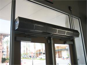 Customer Entry Fly Fans. Air Curtains for Restaurants Fly Control.