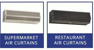 Mars Air Curtains. Fly Fan Air Curtain Doors by Mars Air Curtains.