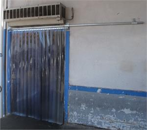 Slide Open Strip Curtain for dock doors. Roll your PVC strip curtain to the side.