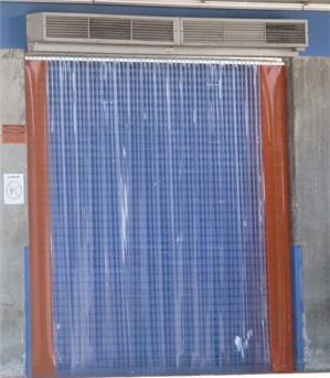 Plastic Strip Curtains And Air Curtain Fly Fans. Dock Door Fly Control.