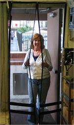Walk Thru Hanging Screen Doors For Restaurant Back Door. Hang Down Screen Doors In Stock.