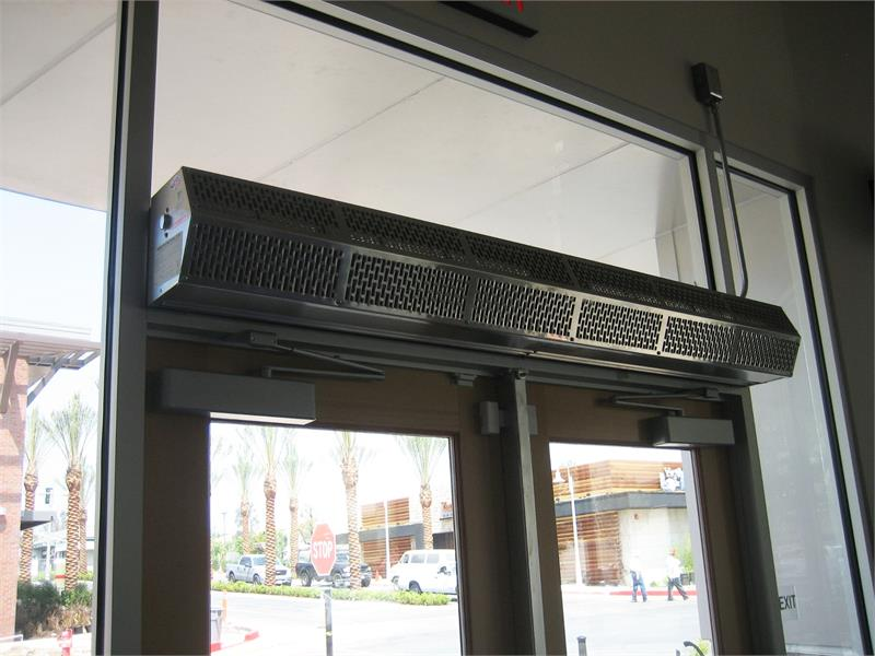 Low Profile Fly Fans For Customer Entry Doors